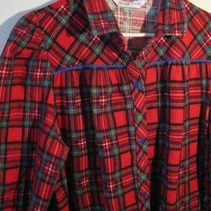 VTG robe flannel Model's Coat  L XL